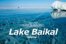 The deepest and oldest lake in the world, Lake Baikal under your tires!